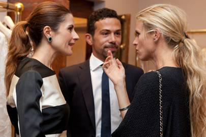 Livia Firth, Nicola Giuggioli and Laura Bailey