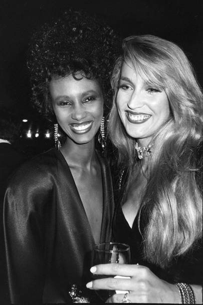 Iman Abdulmajid and Jerry Hall