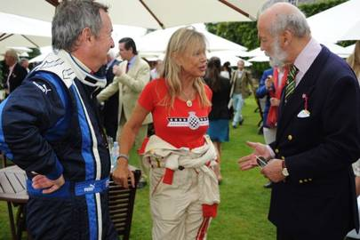 Nick Mason, Annette Mason and Prince Michael of Kent
