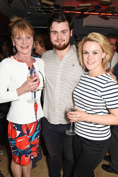 Samantha Bond, Tom Hanson and Molly Hanson