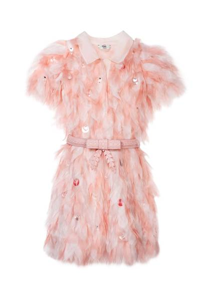 Organza dress with calf-leather belt, £5,000, by Fendi