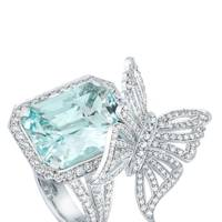 Aquamarine and diamond ring, POA, David Marshall London