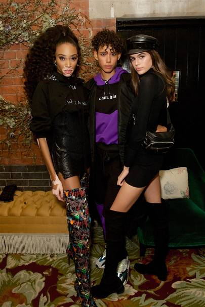 Winnie Harlow, Dilone and Kaia Gerber