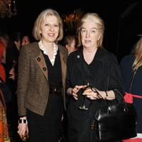 Theresa May and Dame Marjorie Scardino