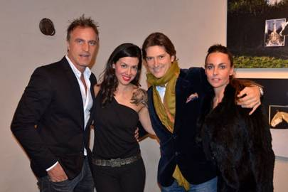 David Ginola, Toni Gallagher, Arnaud Massenet and Carolina Ginola