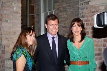 Alexandra Shulman, Paddy Byng and Samantha Cameron