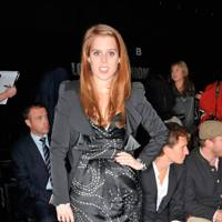 Princess Beatrice at the Issa London show, A/W10