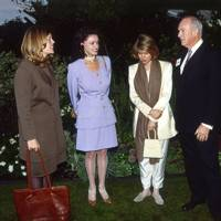 Lady Emma Guinness, Mrs Conrad Black, Countess di Robilant and Bruce Gyngell