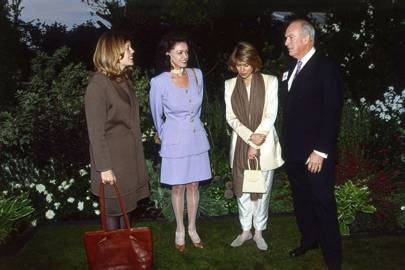 Lady Emma Guinness, Mrs Conrad Black, Countess di Robilant and Bruce Gyngell