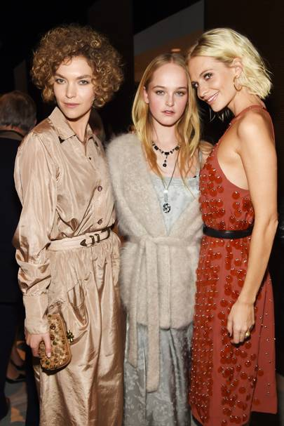Arizona Muse, Jean Campbell and Poppy Delevingne