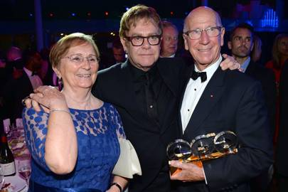 Norma Ball, Sir Elton John and Sir Bobby Charlton