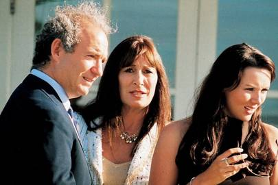 Charles Finch, Anjelica Huston and Martine McCutcheon
