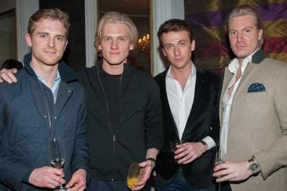 George Garnier, Richard Dinan, Oscar Ligenza Mildenhall and Alexander Nall-Cain