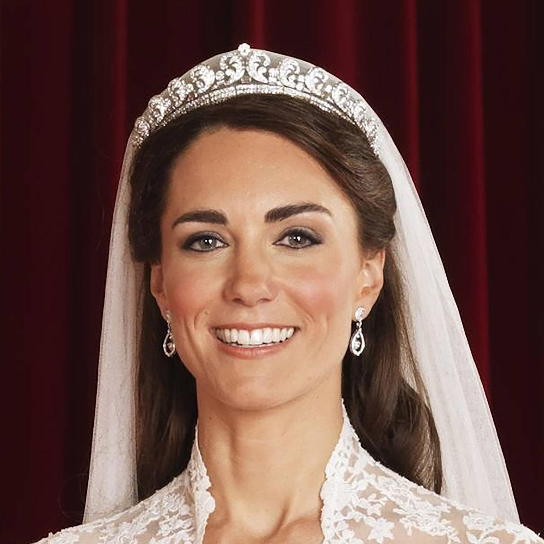 The Story Of Kate Middleton S Wedding Tiara The Cartier Halo Tatler