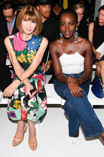 Anna Wintour and Lupita Nyong'o at Calvin Klein