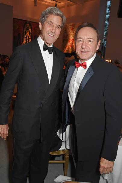 John Kerry and Kevin Spacey