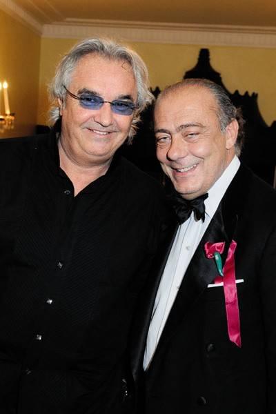 Flavio Briatore and Fawaz Gruosi