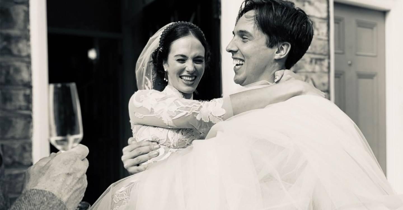 Downton Abbey star Jessica Brown Findlay channels Lady Sybil in glamorous wedding photos