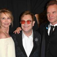 Trudie Styler, Sir Elton John and Sting