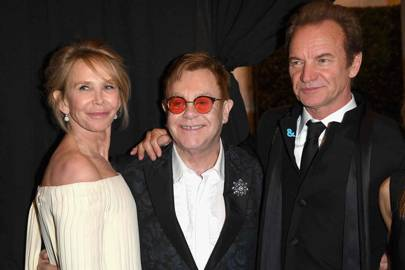 Trudie Styler, Sir Elton John and Sting