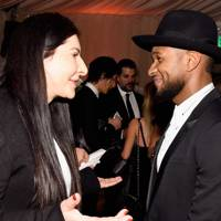 Marina Abramovic and Usher
