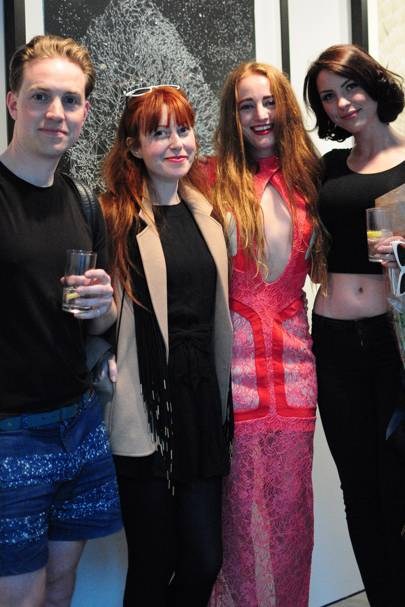 Walter Hugo, Zoniel Burton, Millie Brown and Sara Rourke