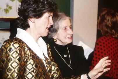 Lady Emma Tennant and Lady Henderson