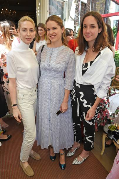 Sabine Getty, Eugenie Niarchos and Serafina Sama