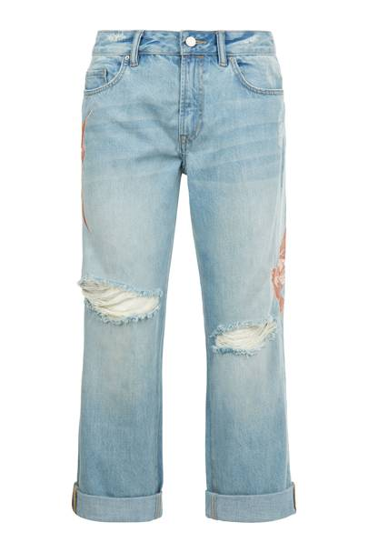 AllSaints embroidered jeans