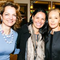 Mara Hotung, Christina Hellmann and Marie-France van Damme