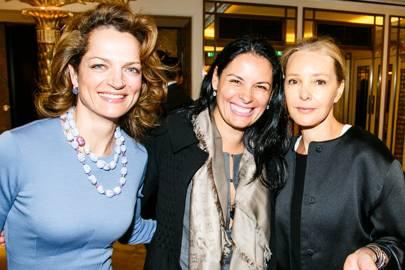 Mara Hotung, Christina Hellmann and Marie-France van Damme
