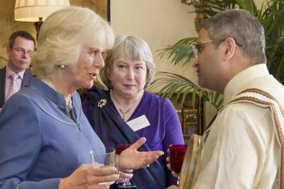 The Duchess of Cornwall, Mhairi Schmidt and Dr Srihari Vallabhajousula