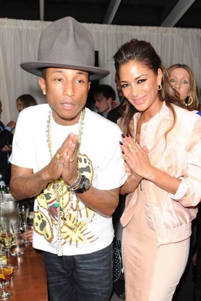 Pharrell Williams and Nicole Scherzinger