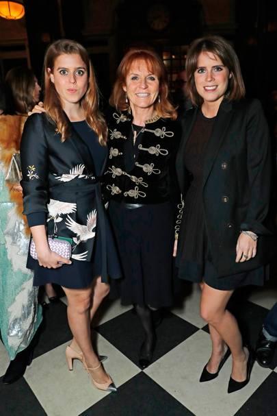 Princess Beatrice, Sarah, Duchess of York and Princess Eugenie