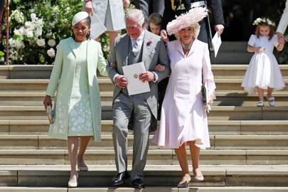 Doria Ragland, the Prince of Wales and the Duchess of Cornwall