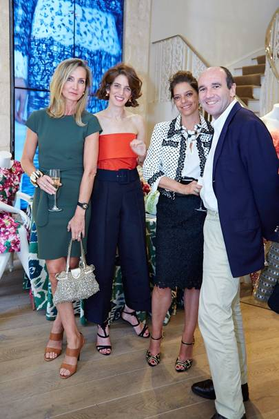 Marie Moatti, Eliza Bolen, Carolina Irving and Emmanuel Moatti