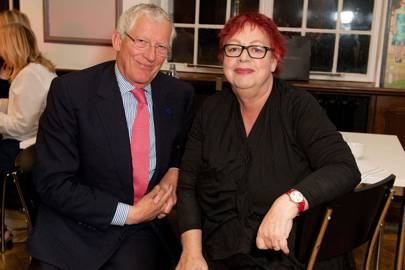 Nick Hewer and Jo Brand