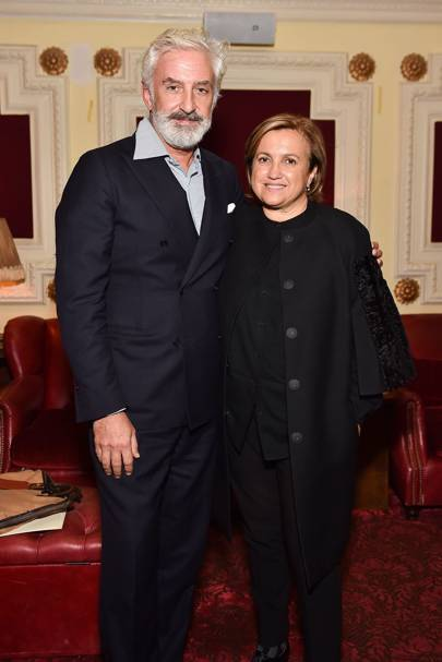 Patrick Kinmonth and Silvia Venturini Fendi