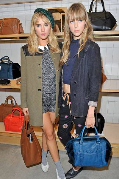 Suki Waterhouse and Edie Campbell
