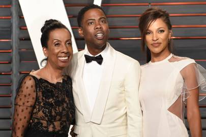 Rosalie Rock, Chris Rock and Megalyn Echikunwoke