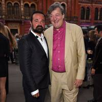 Evgeny Lebedev and Stephen Fry