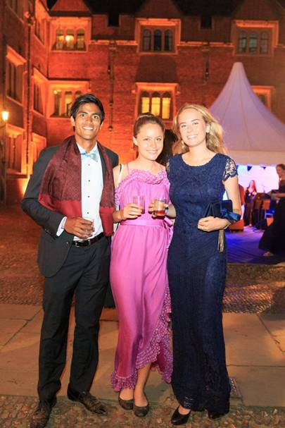 Jerry Ganendra, Julia Schlaier and Johanna Blendow