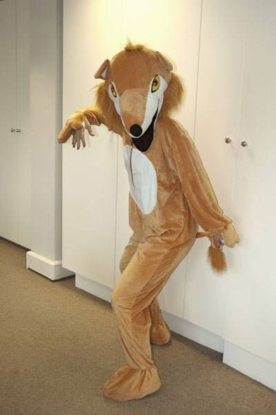 Sophia Money-Coutts as a fox...