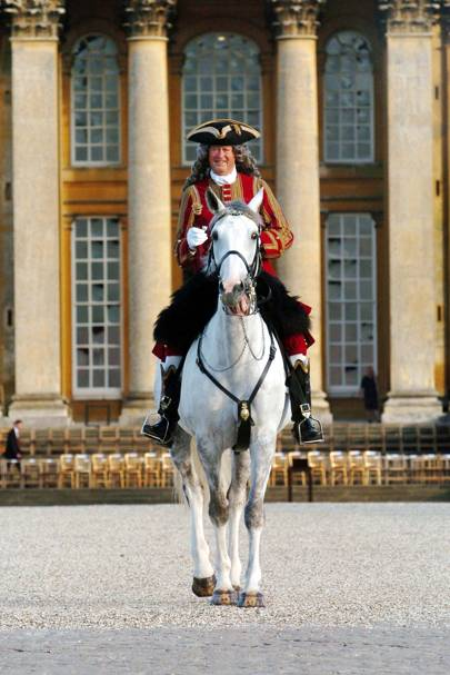 2004: Dressed as the 1st Duke of Marlborough during the 300th anniversary of the Battle of Blenheim
