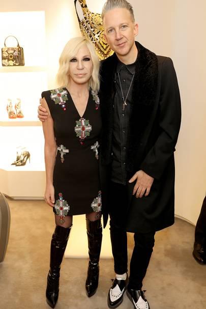 Donatella Versace and Jefferson Hack