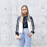 Lady Amelia Windsor at the Emporio Armani show, A/W18