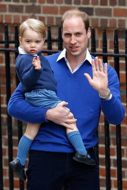 The Duke of Cambridge arrives at the Lindo Wing with Prince George