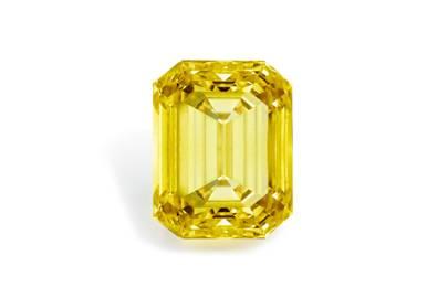 Fancy vivid yellow-diamond ring