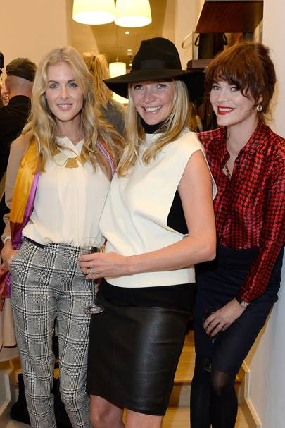 Donna Air, Jodie Kidd and Jasmine Guinness