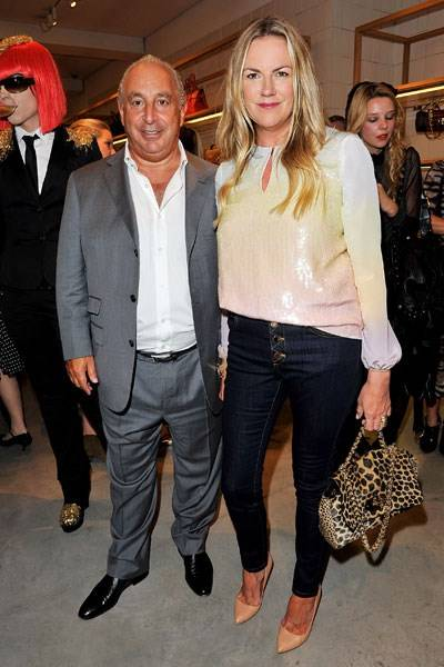 Sir Philip Green and Emma Hill